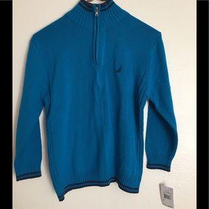 NWT Nautica Boys 1/4 ZIP Up Sweater L (14/16)